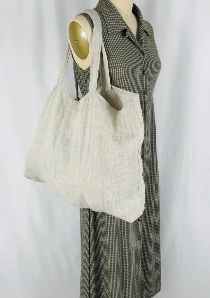 Washable oversize market tote bag